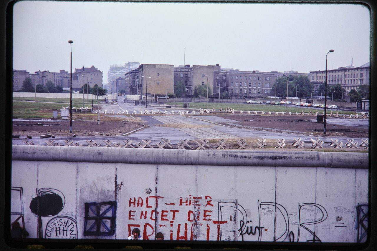Berlin Wall, West Side, 1980