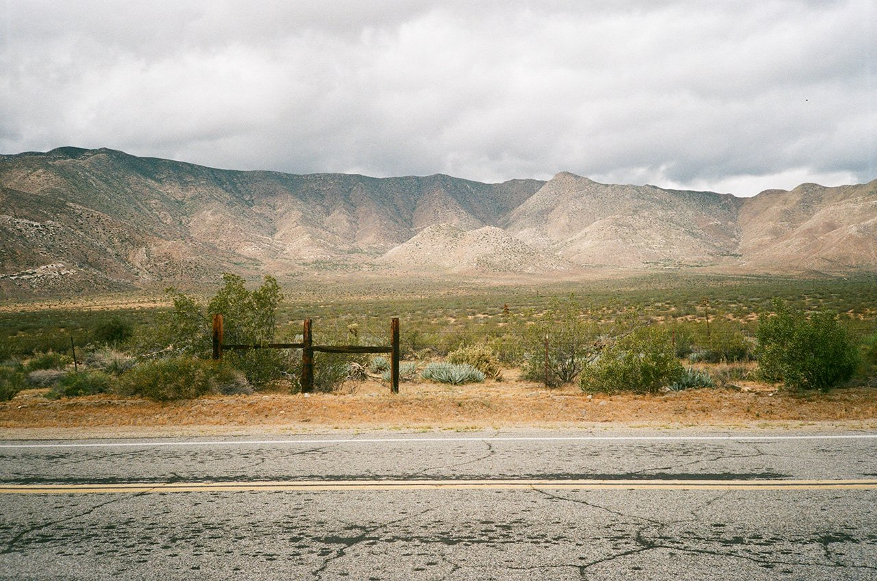 High desert roadside, Anza Borrego, California