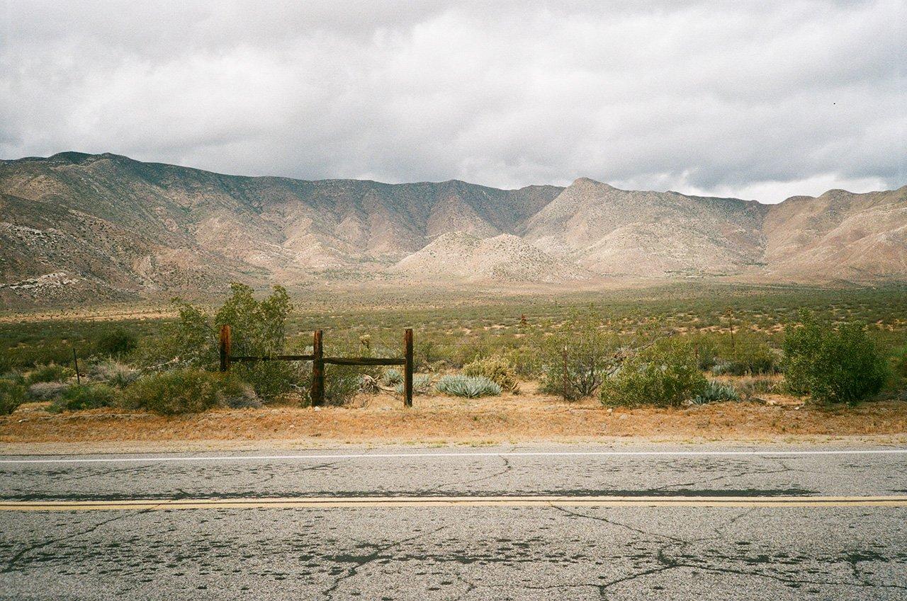 High desert roadside, Anza Borrego, California