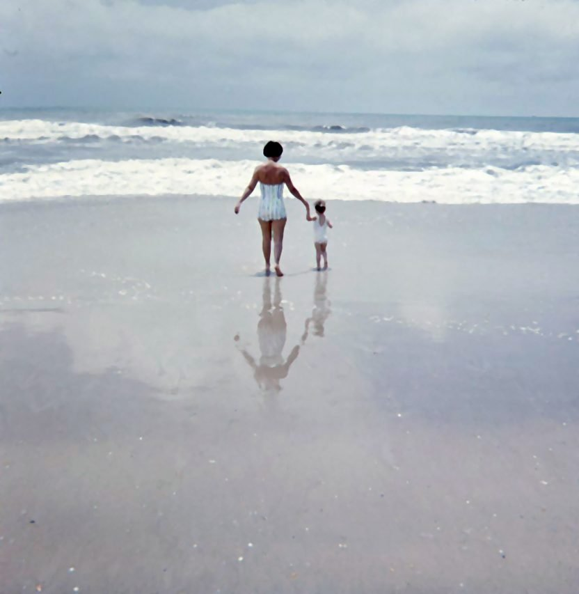 Beach scene, early 1960s, North Carolina