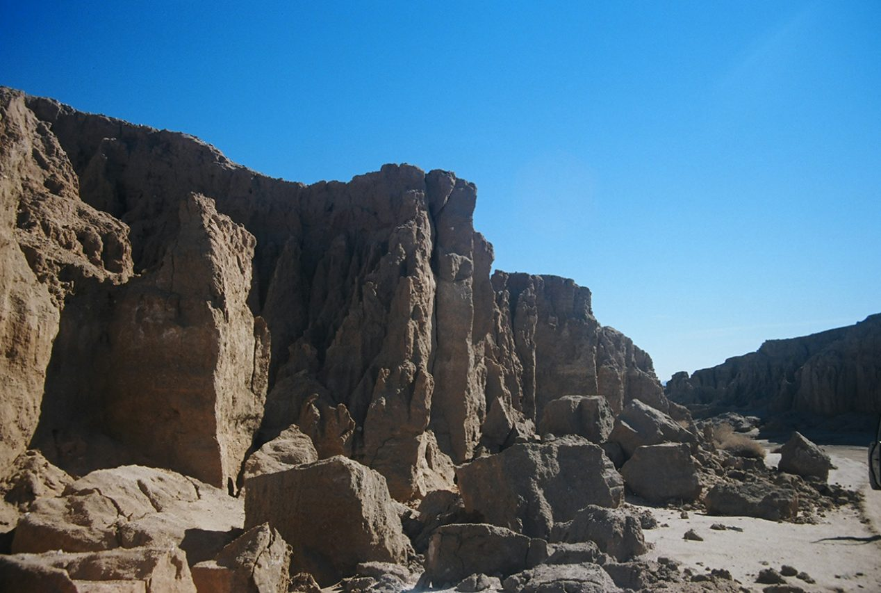 Rock face, California desert