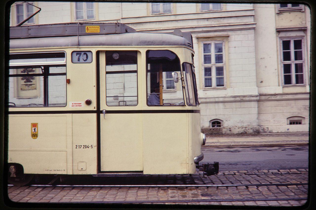East Berlin Tram, 1980