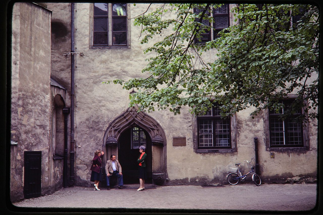 Wittenberg courtyard, East Germany, 1980