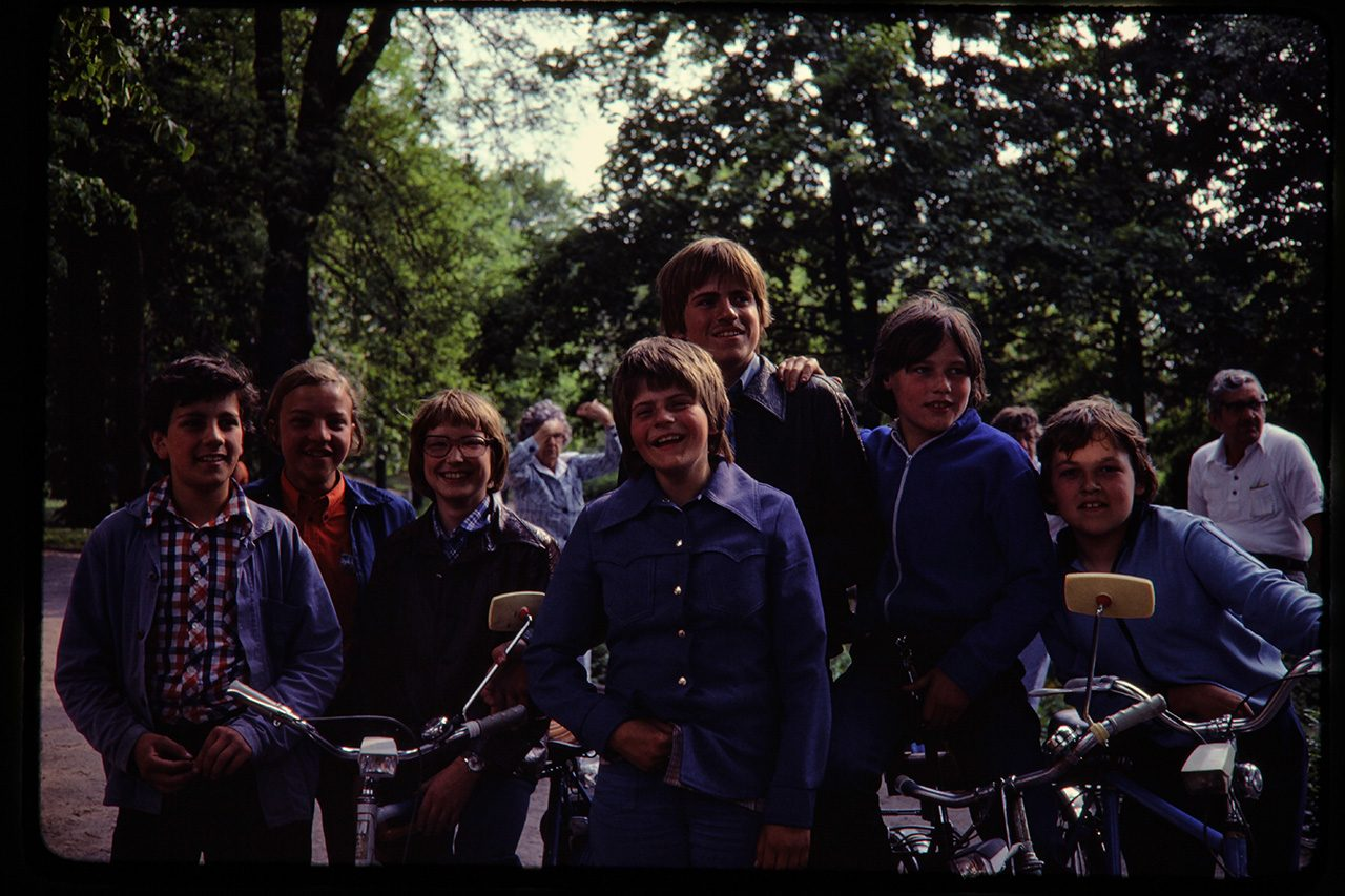 Boys and bikes, Wittenberg, East Germany, 1980
