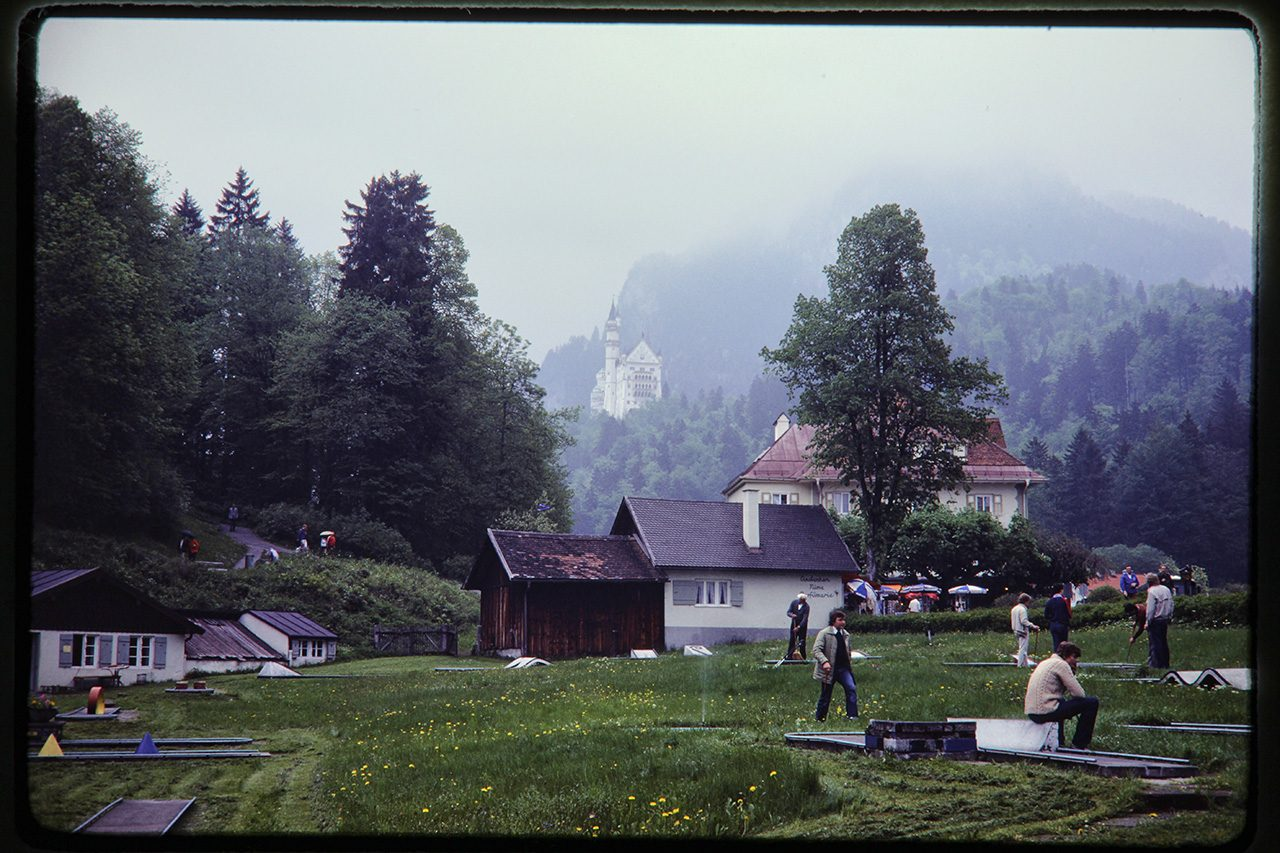 Below Neuschwanstein Castle, Bavaria, West Germany, 1980