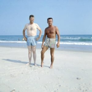 two men on beach