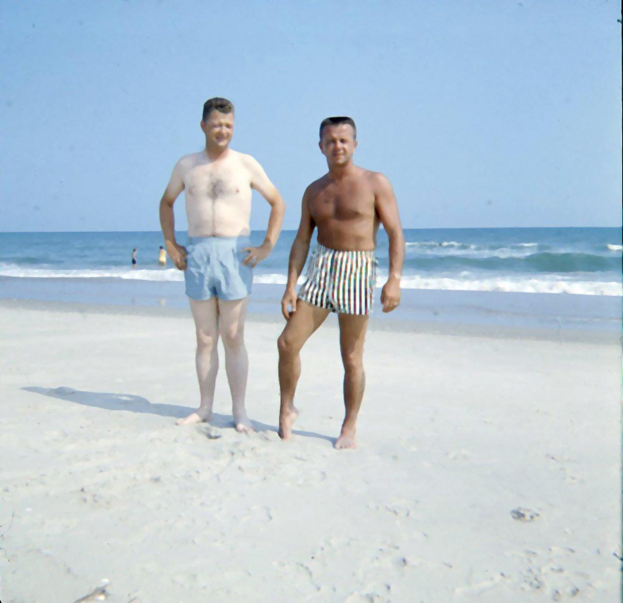 two men on beach